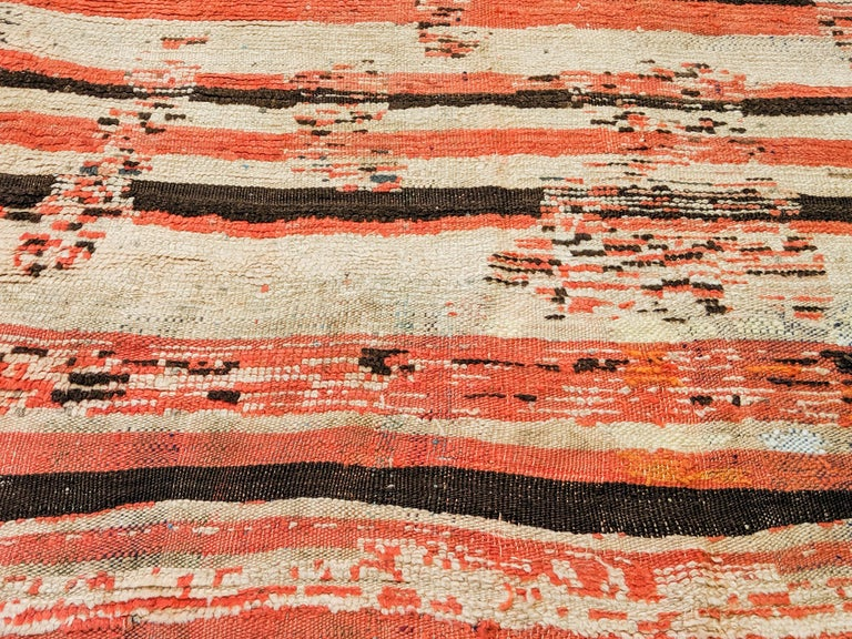 Early 20th Century Rare Antique Rehamna Moroccan Berber Rug For Sale