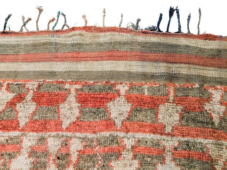 Rare Antique Rehamna Moroccan Berber Rug For Sale 2