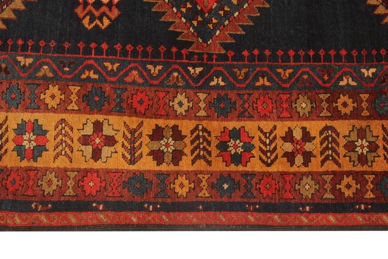 Vegetable Dyed Rare Antique Rug Caucasian Medallion Rug Handmade Carpet from Kazak Area For Sale