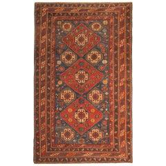 Rare Antique Rug Caucasian Medallion Rug Handmade Carpet from Shirvan Area