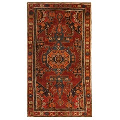 Rare Antique Rug Caucasian Oriental Rug Handmade Carpet from Shirvan Area Rug