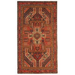 Rare Antique Rugs Elegant Geometric Red Rugs Dragon Traditional Kazak Rug Carpet