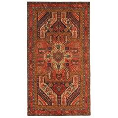 Rare Antique Rugs Elegant Geometric Red Rugs Dragon Traditional Kazak Rug Carpet
