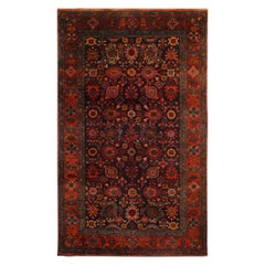 Rare Antique Rugs Handmade Red Rugs Rich Traditional Primitive Carpet