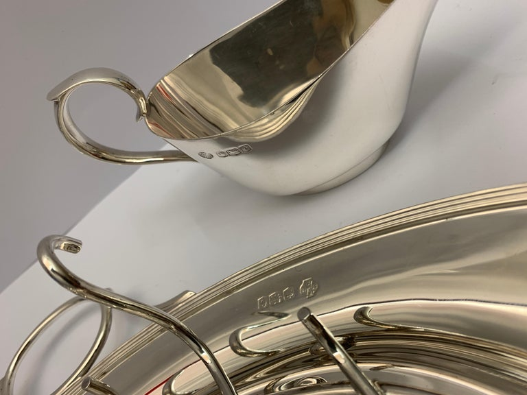 Early 20th Century Rare Antique Silver Asparagus Serving Dish, 1920s For Sale