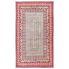 Rare Antique Ukrainian Rug. Size: 4 ft x 6 ft 9 in (1.22 m x 2.06 m)