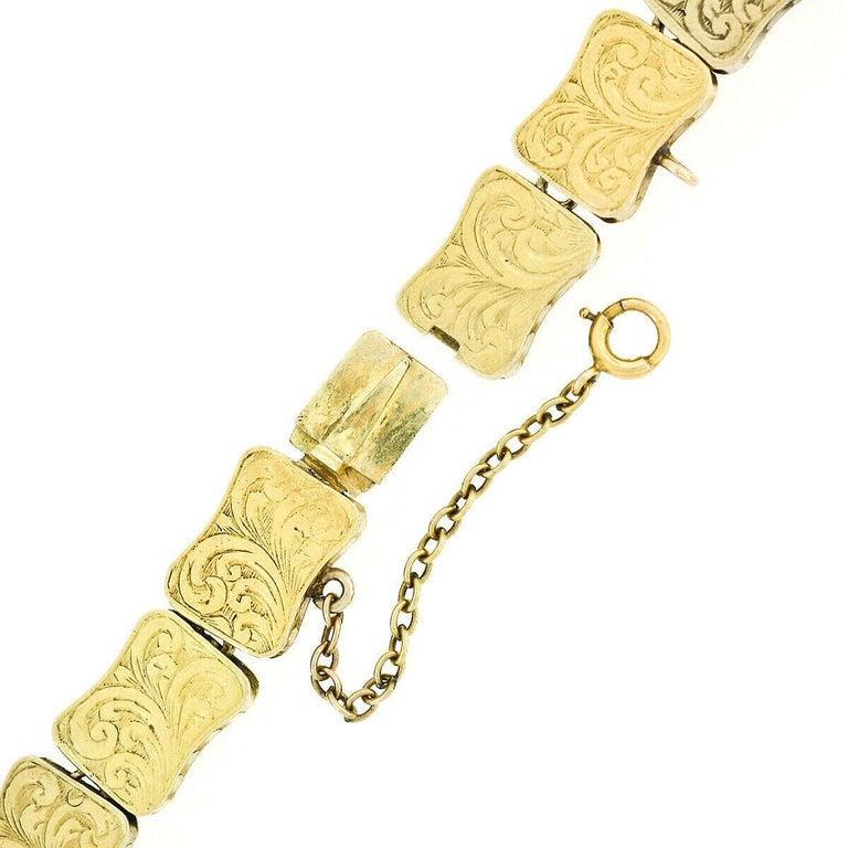 Rare Antique Victorian 18k Gold Cabochon Garnet Mourning Pendant Choker Necklace For Sale 6