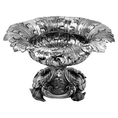 Rare Antique William IV Sterling Silver Rococo Revival Bowl / Dish, 1832