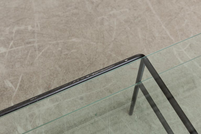 Rare A.R. Cordemeyer Glass and Metal Coffee Table for Gispen In Good Condition For Sale In Los Angeles, CA