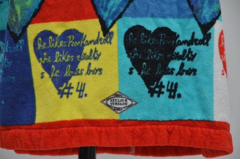 Women's or Men's Rare Archive GIANNI VERSACE Atelier Heart Print  Robe   M   For Sale