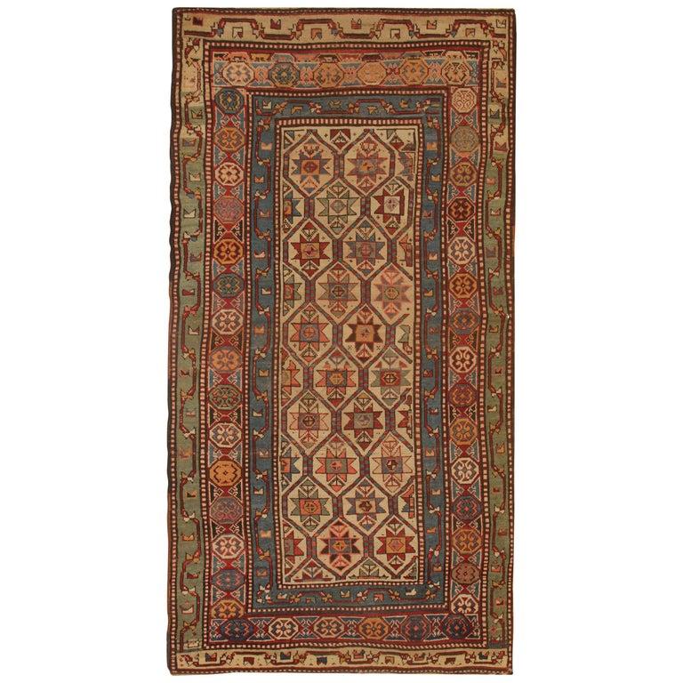 Antique Rugs Caucasian Handmade Carpet