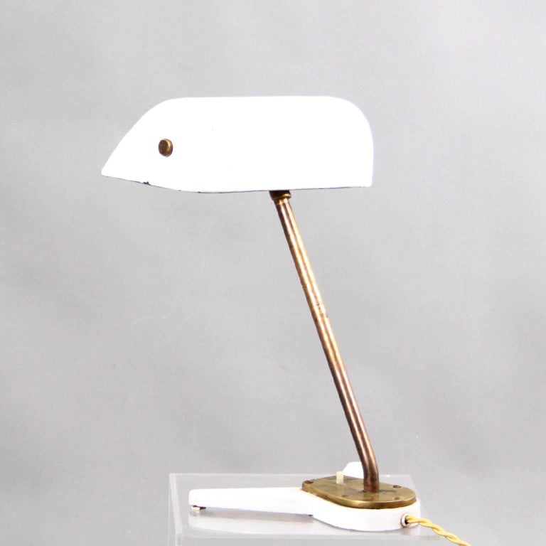 Danish Rare Arne Jacobsen and Hans J. Wegner Desk Lamp Scandinavian Modern, 1938 For Sale