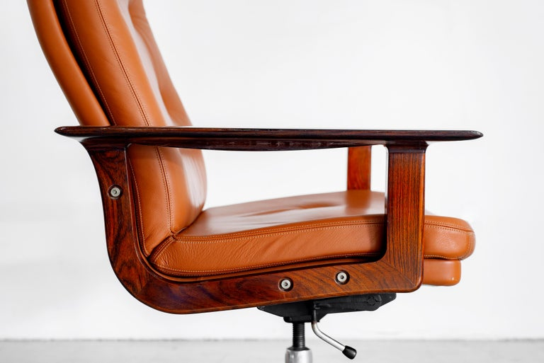 20th Century Rare Arne Vodder Office Chair For Sale