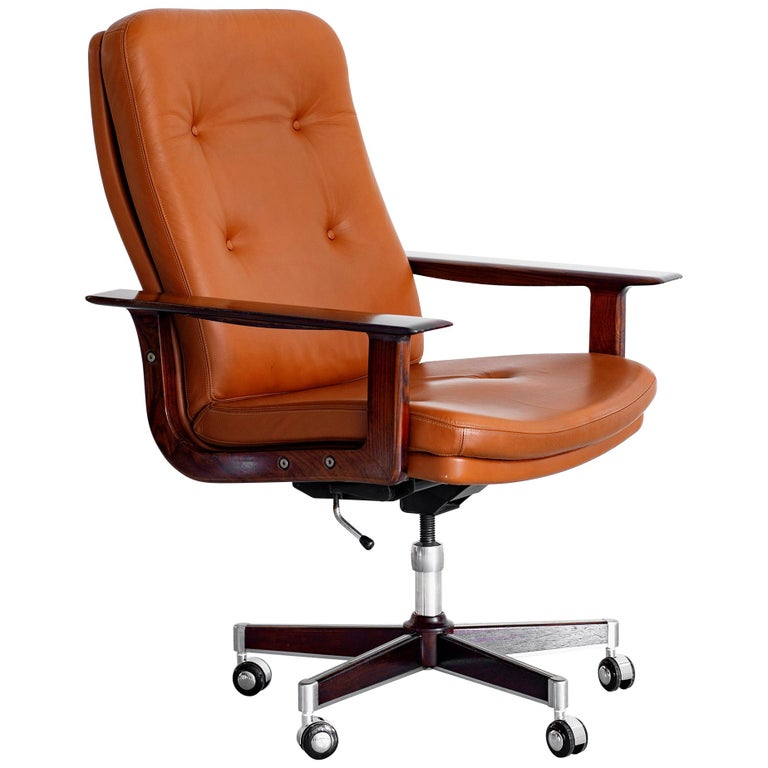 Rare Arne Vodder Office Chair For Sale