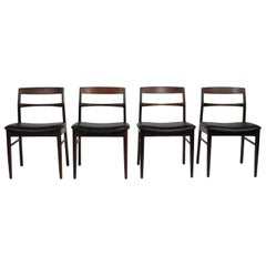 Rare Arne Vodder Solid Rosewood Dining Chairs, Set of 8