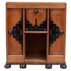 Rare Art Deco Amsterdam School Dutch Cabinet, circa 1920