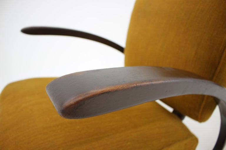Upholstery Rare Art Deco Armchair H-275 by Jindřich Halabala, 1930s