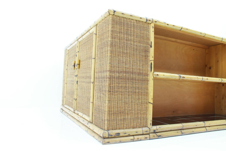 Rare Art Deco Bamboo & Rattan Daybed Sofa Room Divider by Arco Germany 1940s For Sale 14