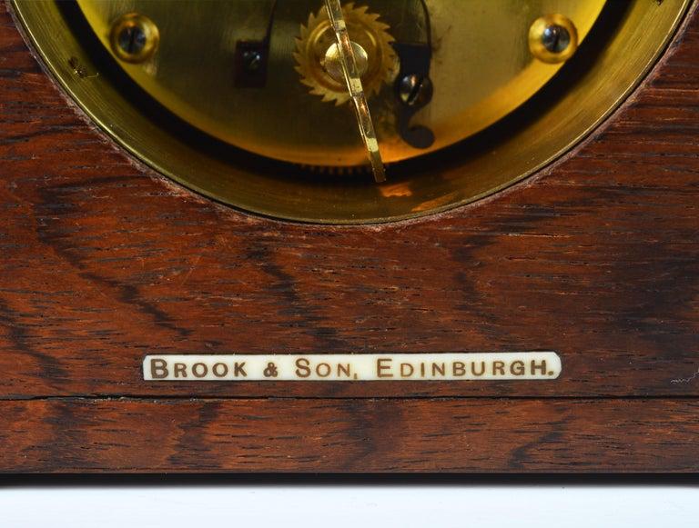 Brass Rare Art Deco Chinoiserie Tortoise Shell Clock Retailed by Brook & Son, Edinburg For Sale