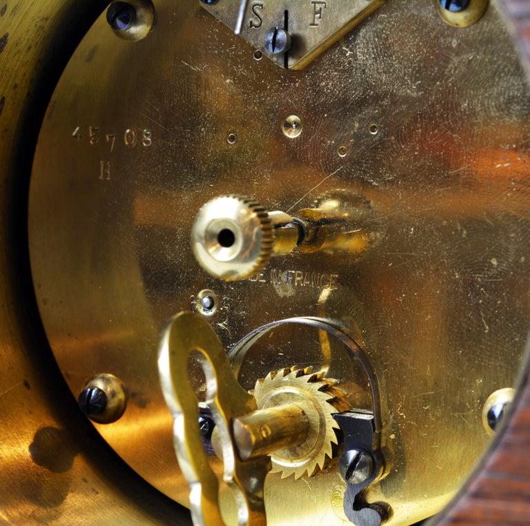 Rare Art Deco Chinoiserie Tortoise Shell Clock Retailed by Brook & Son, Edinburg For Sale 1