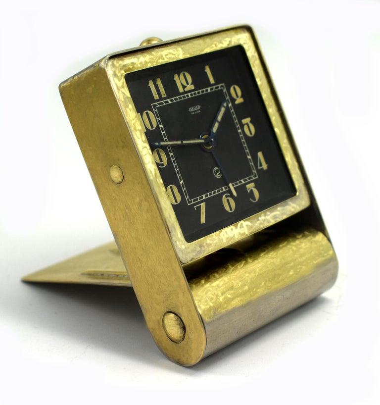 20th Century Rare Art Deco Clock by Jaeger-LeCoultre, circa 1930 For Sale