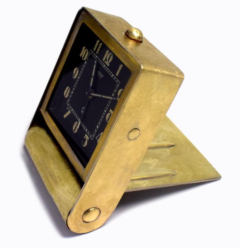 Enamel Rare Art Deco Clock by Jaeger-LeCoultre, circa 1930 For Sale