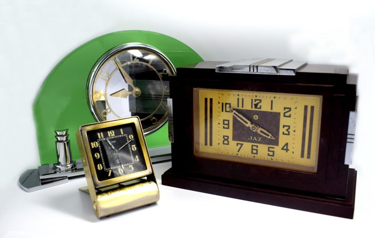 Rare Art Deco Clock by Jaeger-LeCoultre, circa 1930 For Sale 1