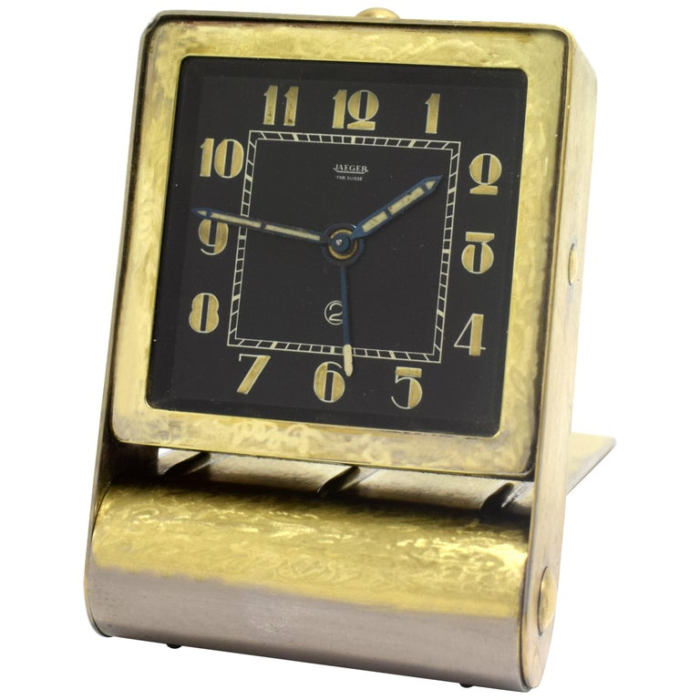 Rare Art Deco Clock by Jaeger-LeCoultre, circa 1930 For Sale
