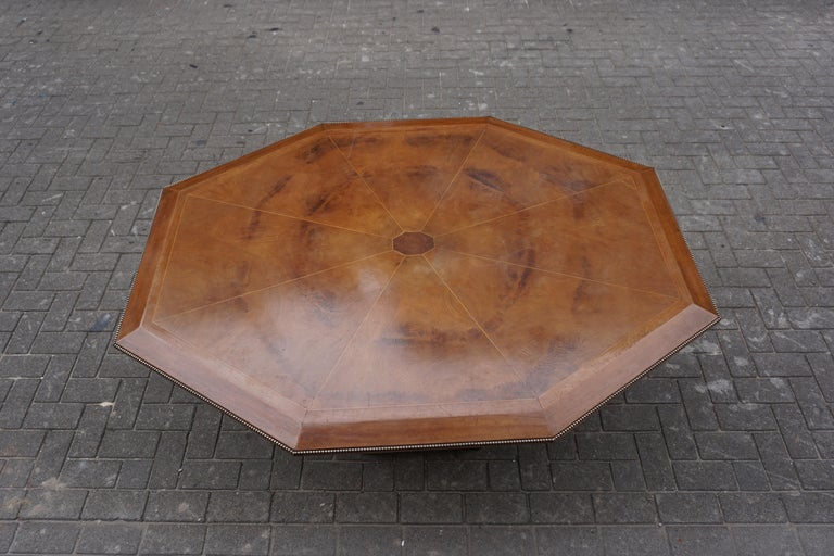 Rare Art Deco Dining or Conference Table in the Shape of an Octagonal Diamond For Sale 4