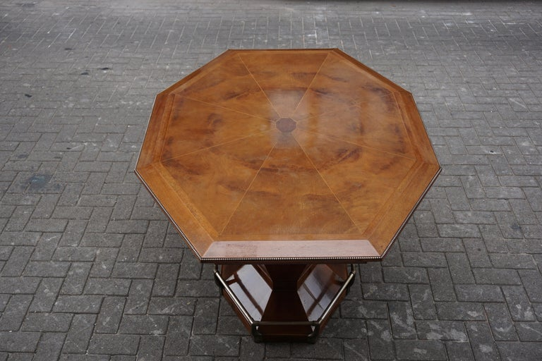 Rare Art Deco Dining or Conference Table in the Shape of an Octagonal Diamond For Sale 12