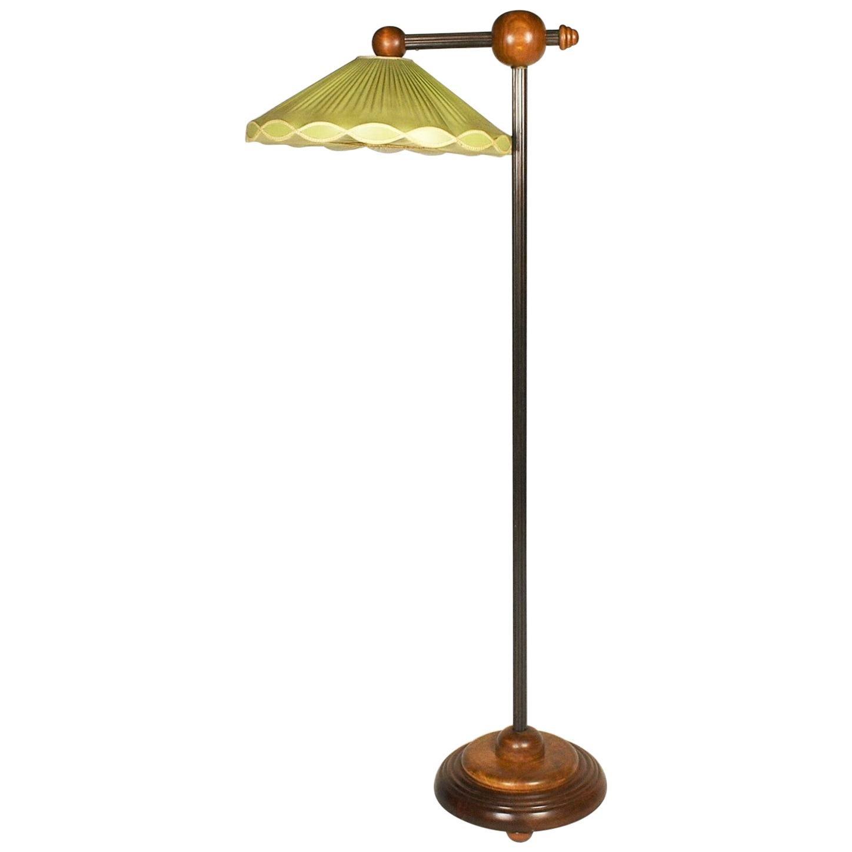 Rare Art Deco Floor Lamp, Czechoslovakia, 1930s