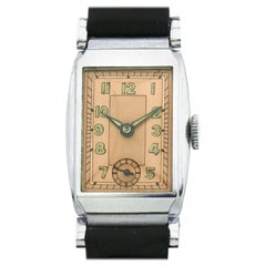 Rare Art Deco Gents Wristwatch Old Stock, Never Worn, circa 1930