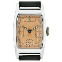 Rare Art Deco Gents Wristwatch Old Stock, Never Worn, circa 1930