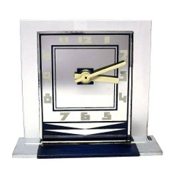 Rare Art Deco Modernist Clock by ATO
