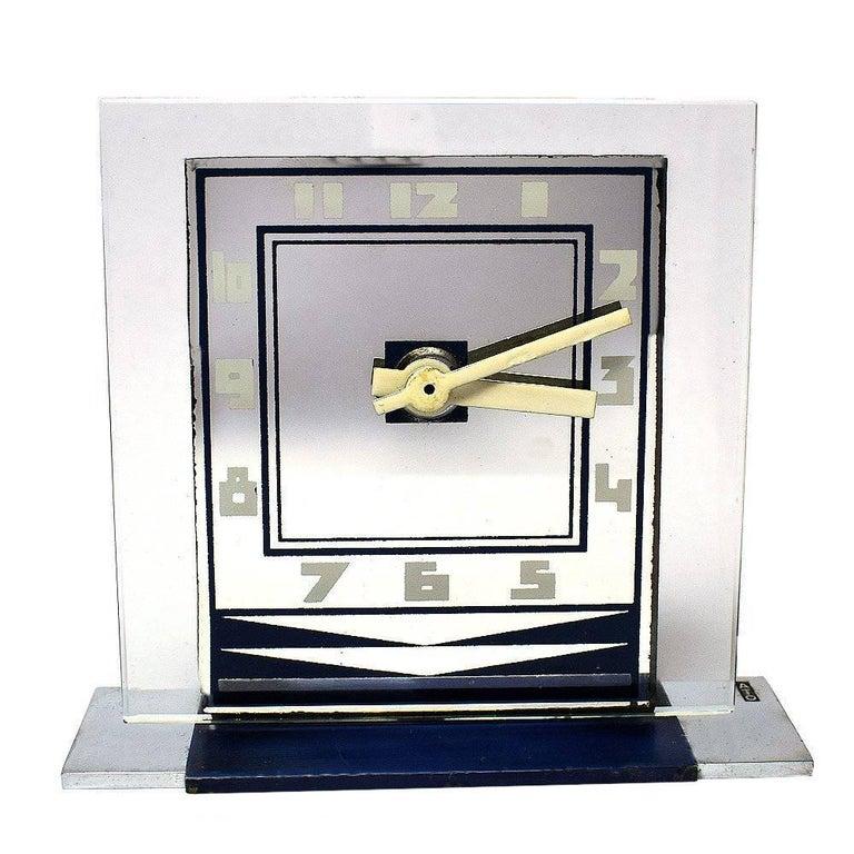 Rare Art Deco Modernist Clock by ATO