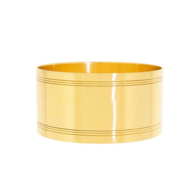 Women's or Men's Art Deco Tiffany & Co. 18 Karat Solid Gold Engraved Napkin Ring 47.60 Grams 1920 For Sale