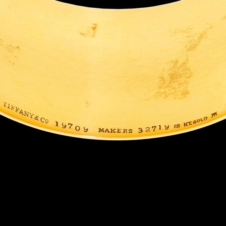 Art Deco Tiffany & Co. 18 Karat Solid Gold Engraved Napkin Ring 47.60 Grams 1920 For Sale 2