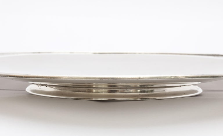 Rare Art Deco Tiffany Sterling Silver Tray on Low Pedestal Base  For Sale 6