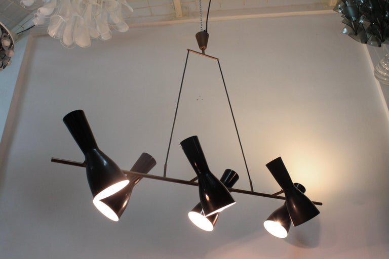 Rare Articulated Stilnovo Suspension Light, 1950s For Sale 4