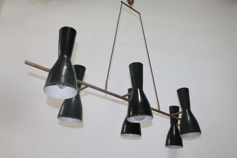 Mid-Century Modern Rare Articulated Stilnovo Suspension Light, 1950s For Sale