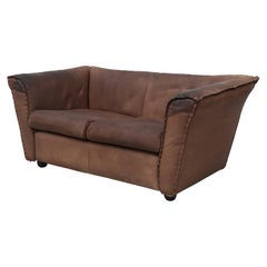 Rare Artifort Leather Love Seat