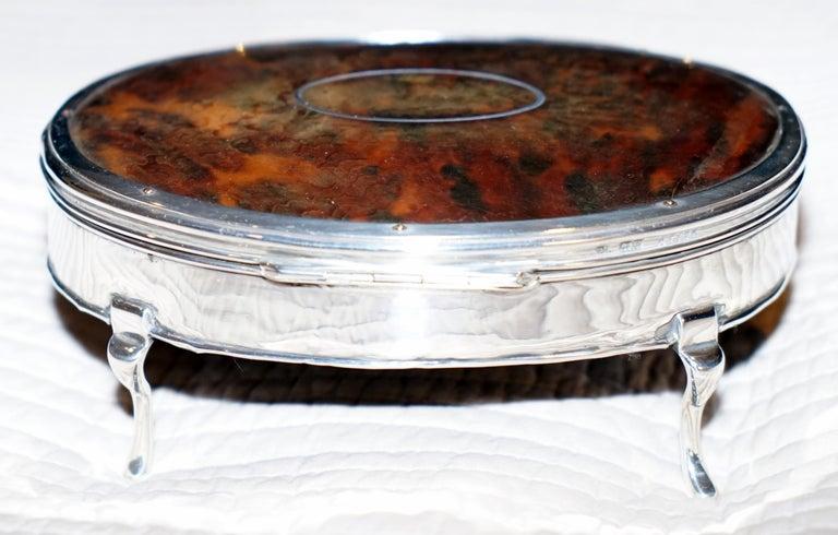 Rare Asprey London Sterling Silver 1917 Jewelry Box Charles & Richard Comyns For Sale 3