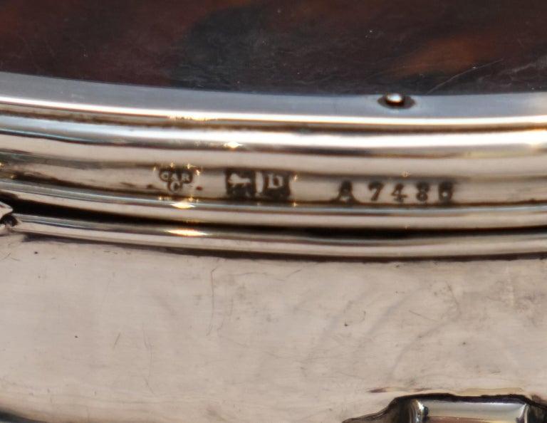 Rare Asprey London Sterling Silver 1917 Jewelry Box Charles & Richard Comyns For Sale 4