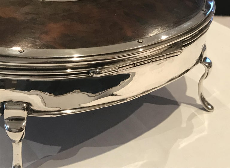 Rare Asprey London Sterling Silver 1917 Jewelry Box Charles & Richard Comyns For Sale 12