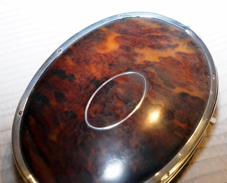 Art Nouveau Rare Asprey London Sterling Silver 1917 Jewelry Box Charles & Richard Comyns For Sale