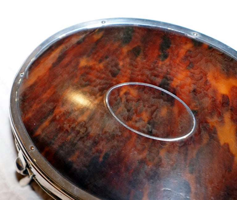 English Rare Asprey London Sterling Silver 1917 Jewelry Box Charles & Richard Comyns For Sale