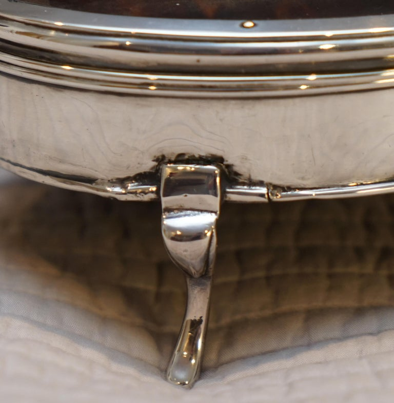 Early 20th Century Rare Asprey London Sterling Silver 1917 Jewelry Box Charles & Richard Comyns For Sale