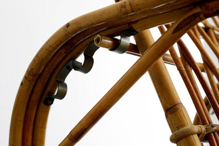 Rare Audoux Minet Rattan Lounge Chairs For Sale 3