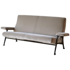 Rare Authentic 1950s Roberto Menghi Sofa, Arflex, Italy, Newly Upholstered