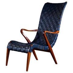 Rare Axel Larsson Armchair by Bodafors, 1940s